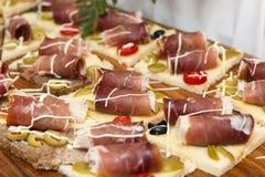 Croatian prosciutto ham Stock Images