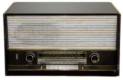 Croatian Radio reciver. Front view of old nostalgic radio with clipping path stock photos