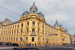 Croatian Railways Administration Building in Zagreb Royalty Free Stock Photo