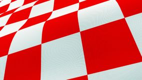 Croatian red and white check board waving flag Stock Images