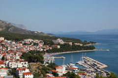 Croatian resort Baska Voda Stock Image