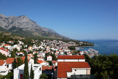 Croatian resort Baska Voda Royalty Free Stock Images
