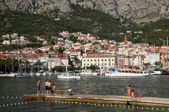Croatian resort Makarska Royalty Free Stock Image