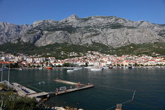 Croatian resort Makarska Stock Images