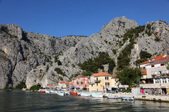 Croatian resort Omis Stock Image