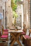 Croatian restaurant stock photography