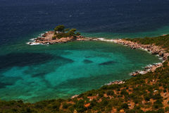Croatian sea. Sjekirica island near Dubrovnik, Croatia Stock Photo