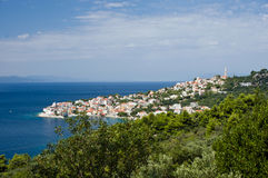 Croatian sea coast view in Dalmatia Stock Images
