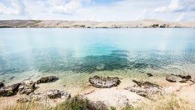 Croatian sea Pag island Royalty Free Stock Photography