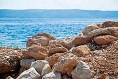 Croatian seascape Royalty Free Stock Photo