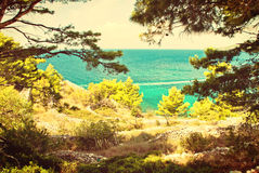 Croatian seascape Royalty Free Stock Images