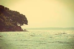 Croatian seascape - vintage version Stock Photo