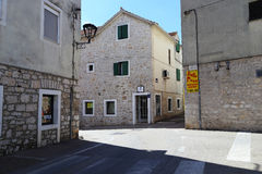 Croatian seaside resort town Stock Photos