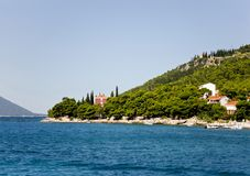 Croatian shore and landscape Royalty Free Stock Photography