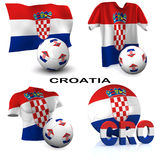 Croatian Soccer Royalty Free Stock Images