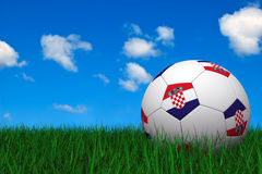 Croatian soccer ball Stock Images