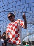 Croatian soccer fan Royalty Free Stock Photos