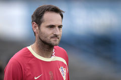 Croatian soccer player Simunic Stock Photography