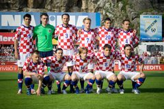 Croatian soccer selection royalty free stock photos