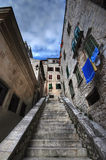 Croatian sreet. A narrow stairs in between the apartments Royalty Free Stock Photography