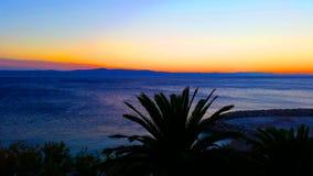 Croatian sunset Royalty Free Stock Photos