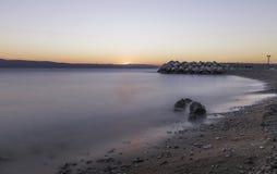 Croatian sunset - Podgora, Makarska Riviera, Dalmatia, Croatia. Croatian sunset in Podgora, Makarska Riviera, Dalmatia, Croatia royalty free stock photo