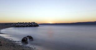 Croatian sunset - Podgora, Makarska Riviera, Dalmatia, Croatia. Croatian sunset in Podgora, Makarska Riviera, Dalmatia, Croatia royalty free stock photos