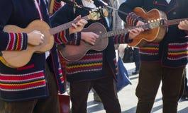 Croatian tamburitza musicians in traditional folk costu Royalty Free Stock Images