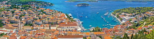 Croatian tourist destination of Hvar Royalty Free Stock Photography