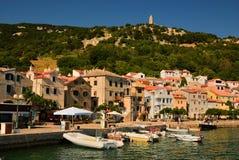 Croatian town. Town in Croatia , Krk Baska Royalty Free Stock Photo