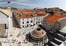 Croatian town Dubrovnik Royalty Free Stock Photo