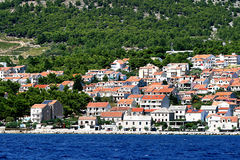 Croatian town Makarska Royalty Free Stock Image
