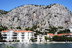 Croatian town Omis Royalty Free Stock Photo
