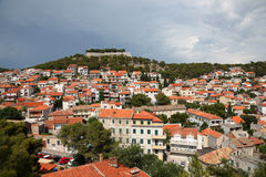 Croatian town Sibenik Royalty Free Stock Images
