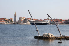 Croatian town Umag Royalty Free Stock Photography