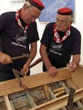Croatian traditional shipbuilders Royalty Free Stock Photo