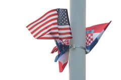 Croatian and US flag Royalty Free Stock Photography