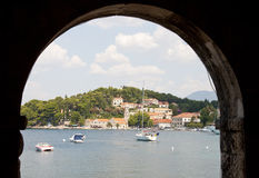 Croatian view. In Cavtat, Dalmatia royalty free stock photo