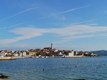 The Croatian village Betina with the fishing harbor Stock Photo