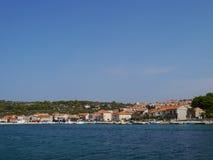 The Croatian village Kaprije in the Mediterranean Stock Photos