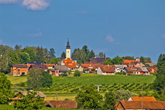 Croatian village in green nature Stock Photo