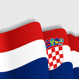 Croatian waving Flag. Vector illustration. Stock Images