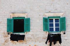 Croatian Windows Royalty Free Stock Photography