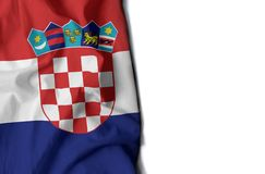 Croatian wrinkled flag, space for text Stock Image