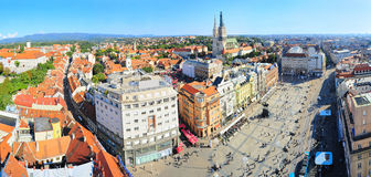 Croatian Zagerb Aerial View Royalty Free Stock Photo