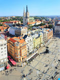 Croatian Zagreb aerial view Stock Image
