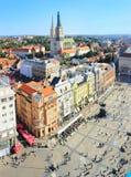 Croatian Zagreb aerial view Stock Image