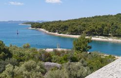 The Croatian Zdrelac strait Royalty Free Stock Image