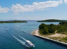 The Croatian Zdrelac strait Royalty Free Stock Images