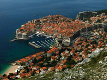 Croatie dubrovnik Vue de la ville Photos stock